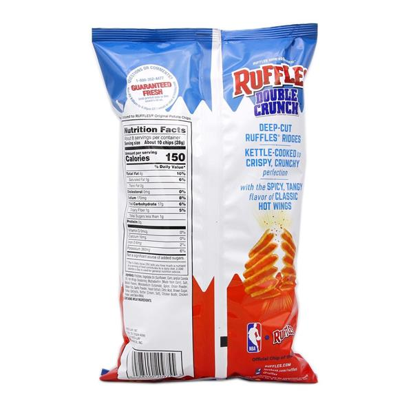 Ruffles Double Crunch Potato Chips Hot Wings
