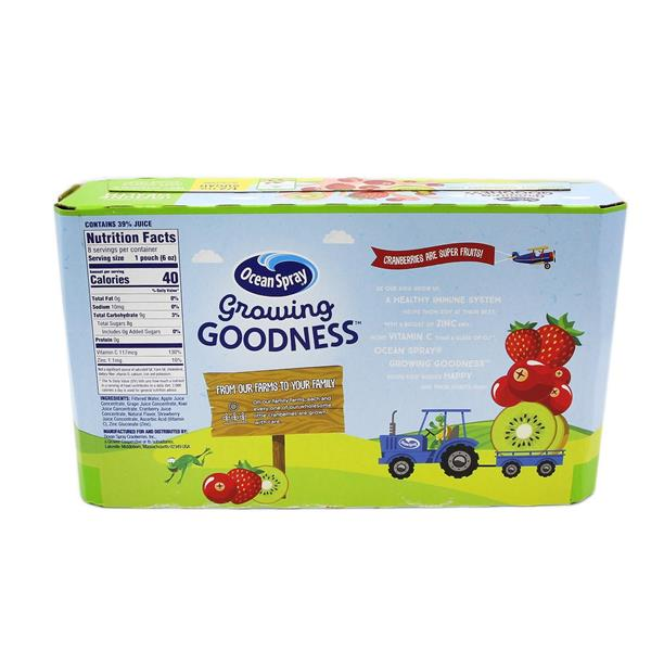 Ocean Spray Growing Goodness Cranberry Strawberry Kiwi 8Pk