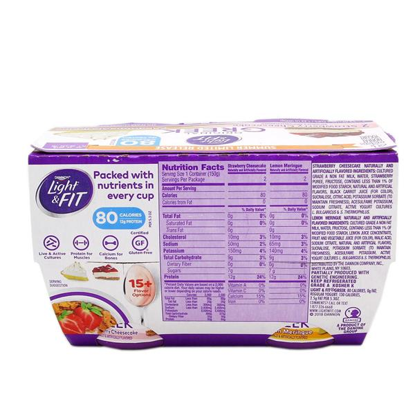 Dannon Light & Fit Greek Yogurt Seasonal 4 - 5 3oz Cups | Hy