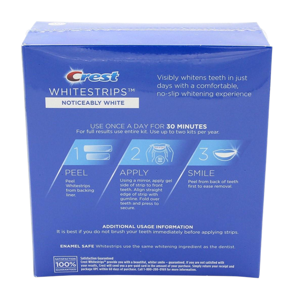 Crest 3dwhite Strips Noticeably White Kit 10 Treatments Hy Vee