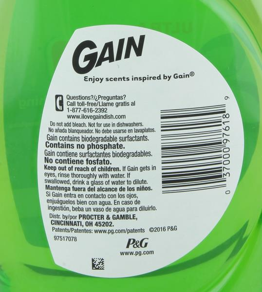 Gain Dishwashing Liquid Original Scent