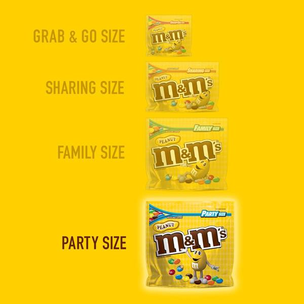 M&M'S Peanut Chocolate Candy Party Size Bag