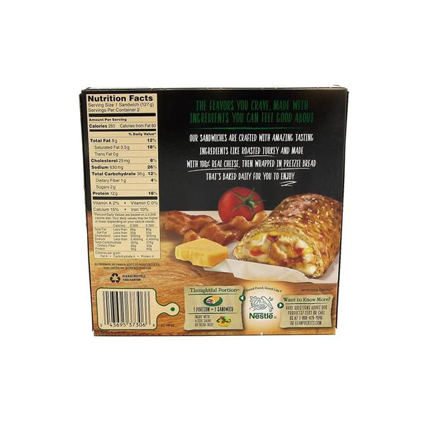 Nestle Lean Pockets Roasted Turkey, Bacon & Cheese in Pretzel Bread - 2 CT
