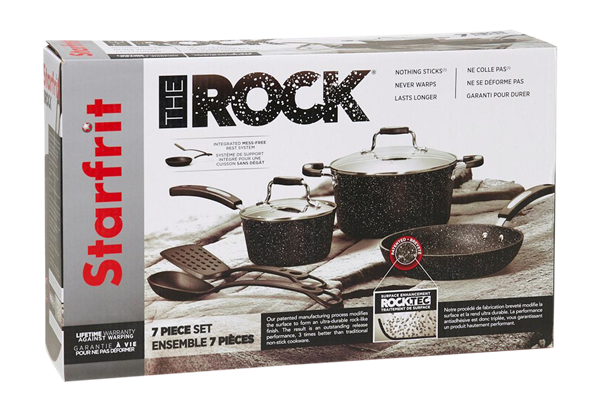 The Rock 7 Piece Cookware Set