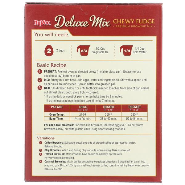 Hy-Vee Deluxe Mix Chewy Fudge Brownie Mix