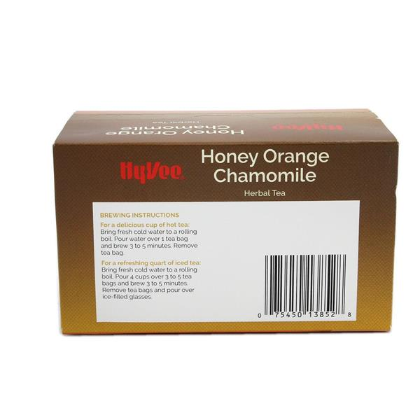 Hy-Vee Honey Orange Chamomile Herbal Tea Bags 20 Count