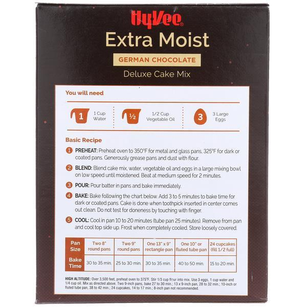 Hy-Vee Extra Moist German Chocolate Deluxe Cake Mix