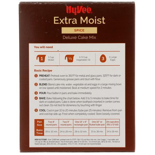 Hy-Vee Extra Moist Spice Deluxe Cake Mix