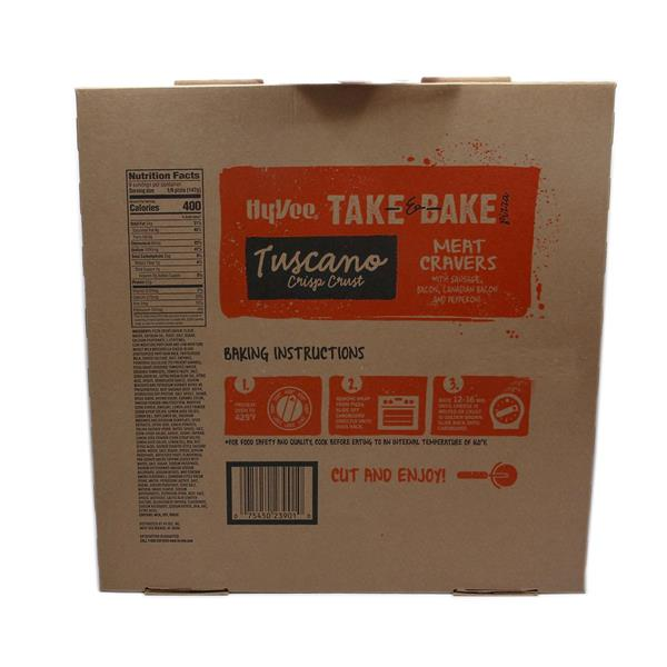 Hy-Vee Take & Bake Meat Cravers Family Size Tuscano Crisp Crust Pizza