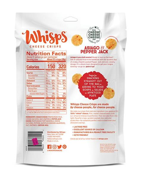 Whisps Asiago & Pepper Jack Cheese Crisps