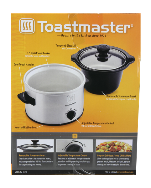 Toastmaster 1.5 Quart Slow Cooker