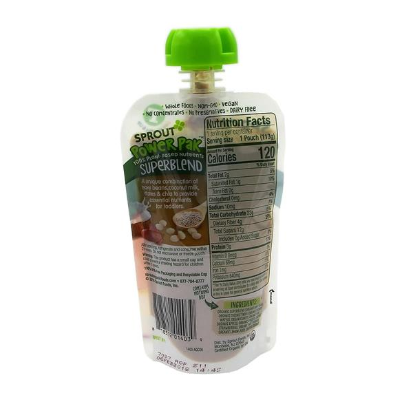 Sprout Organic Toddler Puree, Apple, Apricot & Strawberry Superfruit